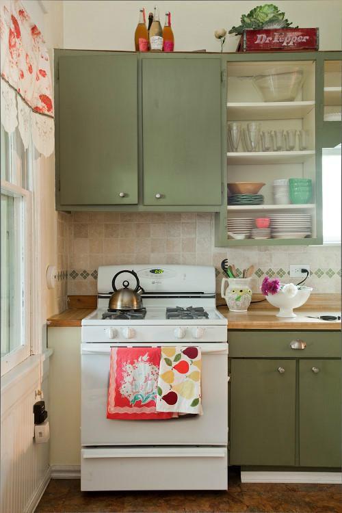 现代简约地中海美式混搭复古厨房效果图