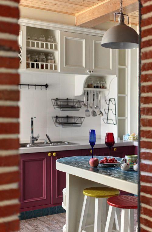 混搭厨房吧台装修案例