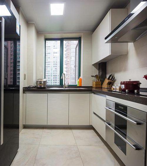 新古典美式混搭精致厨房设计图