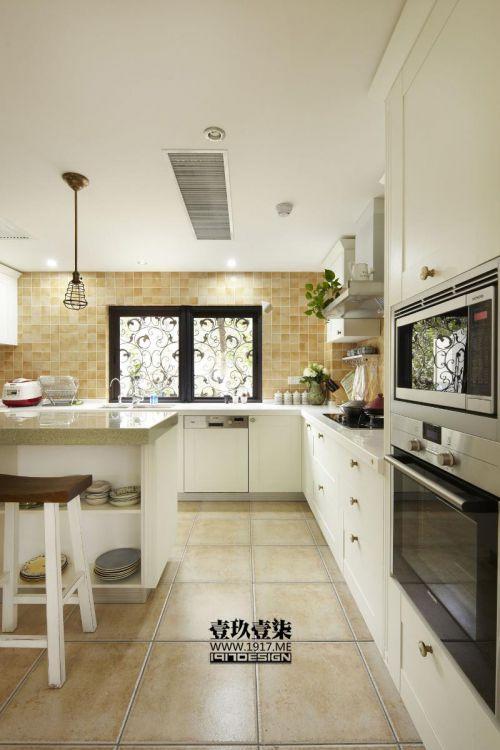 现代简约美式混搭厨房效果图