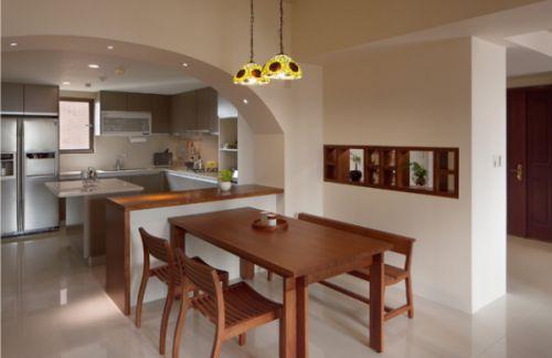 日式客厅餐厅厨房装修案例