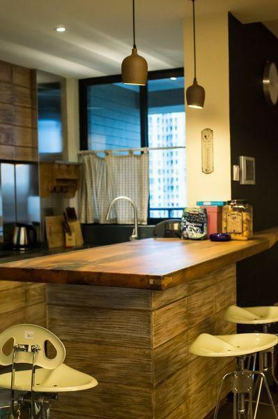 日式自然复古厨房装修效果展示