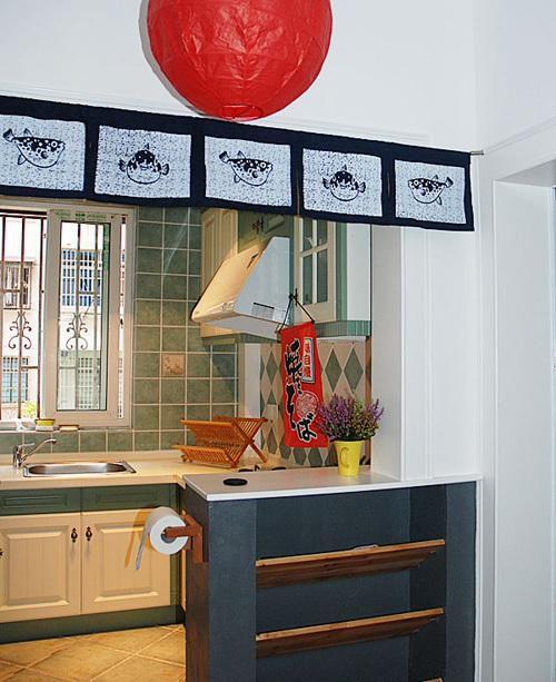 日式混搭厨房装修图