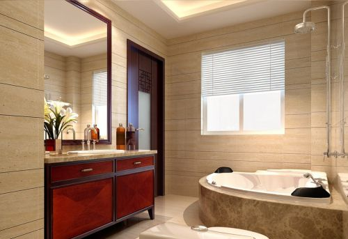 中式卫生间浴室设计图