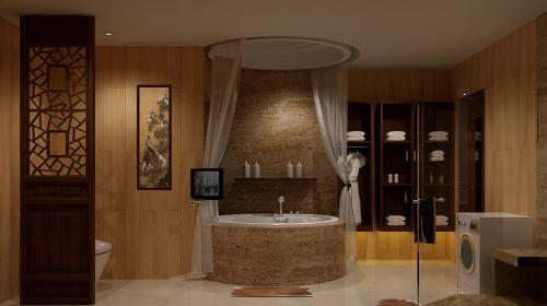 中式卫生间别墅浴室装修图