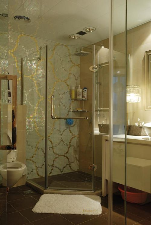 现代简约中式混搭卫生间设计图