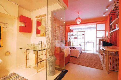 现代简约卧室卫生间设计案例