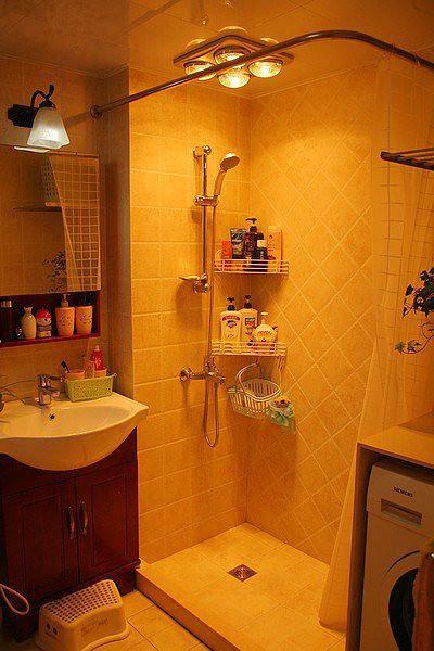 现代简约美式卫生间效果图