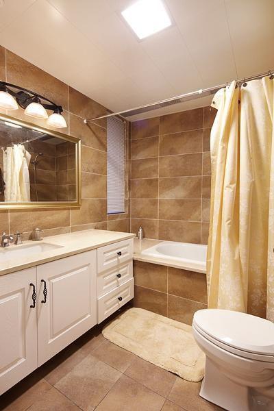 现代简约美式复古卫生间设计图