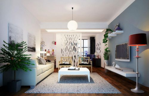 现代简约客厅隔断设计图