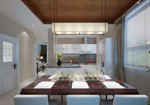 现代简约时尚餐厅别墅吊顶窗帘门窗灯具设计图