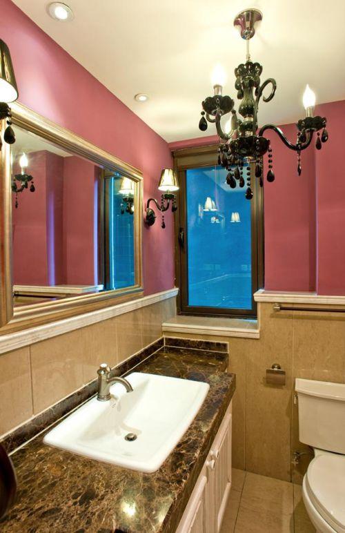 美式混搭复古卫生间设计方案