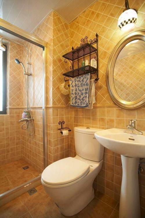 美式混搭复古卫生间设计图