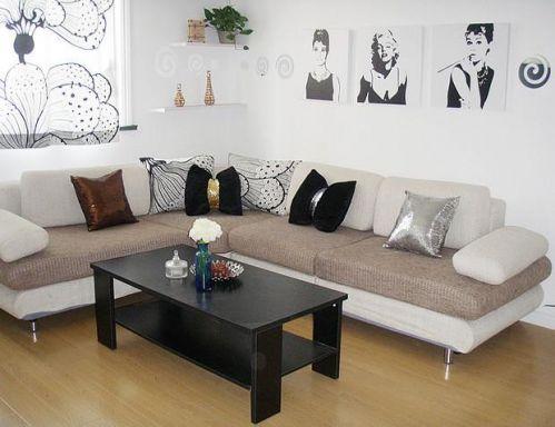现代简约北欧混搭客厅效果图