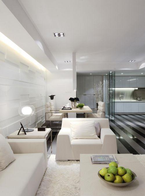现代简约客厅餐厅设计案例展示
