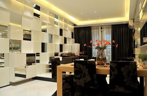 现代简约客厅餐厅装修图