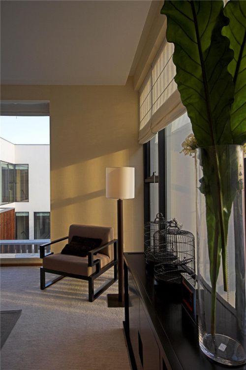 现代简约中式客厅装修案例