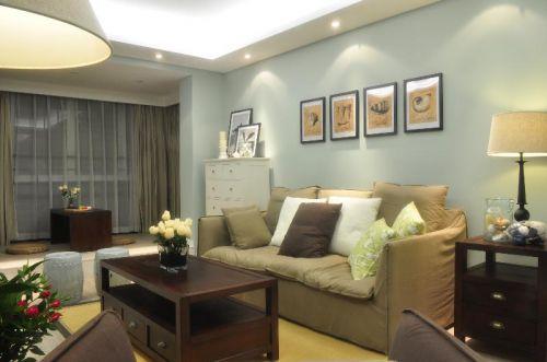 美式混搭客厅设计方案