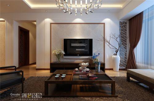 中式中式风格新中式客厅背景墙电视背景墙装修案例