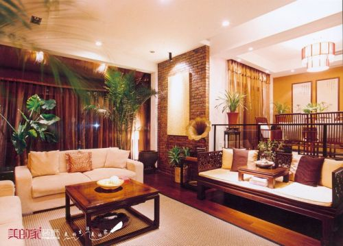 中式客厅别墅设计案例