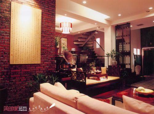 中式客厅别墅装修效果展示