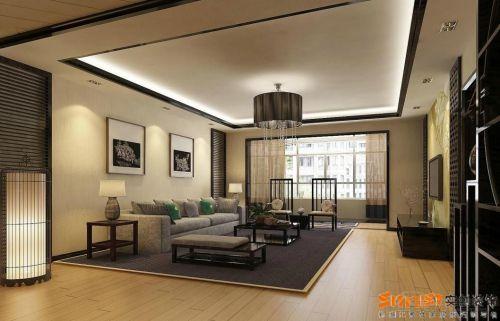 中式简约客厅吊顶装修效果展示