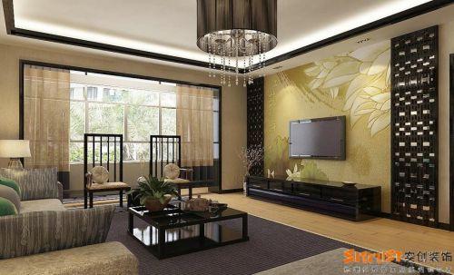 中式中式风格客厅装修案例