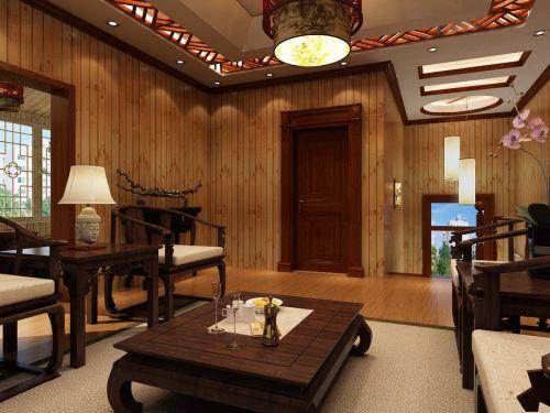 中式中式风格客厅吊顶设计案例展示