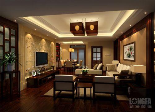 中式客厅电视背景墙案例展示