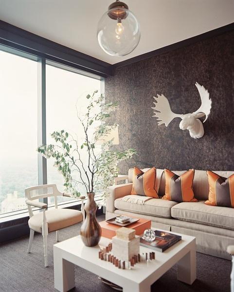 现代简约中式欧式田园美式客厅装修效果展示