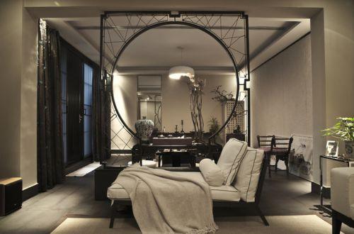 中式中式风格客厅玄关玄关柜设计图
