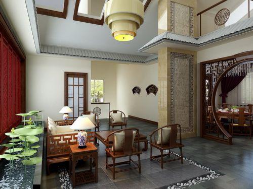 中式中式风格客厅吊顶案例展示
