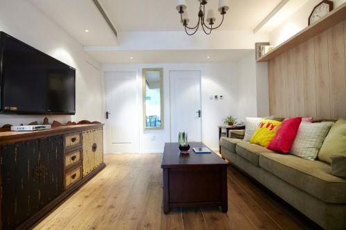 中式田园混搭复古客厅设计图