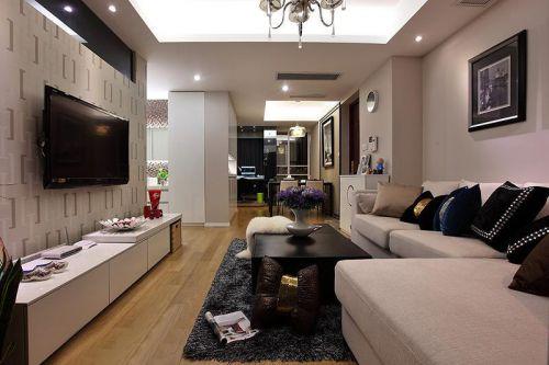 现代简约中式清新客厅设计方案