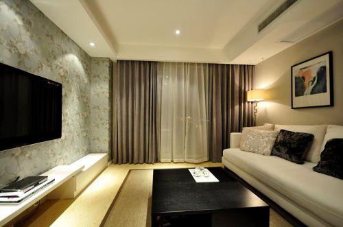 现代简约中式混搭客厅装修效果展示