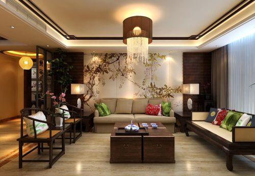 中式客厅吊顶装修图