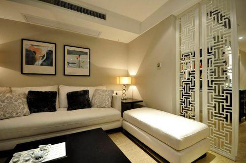 现代简约中式混搭客厅设计方案
