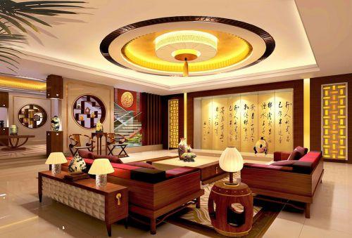 中式客厅吊顶案例展示