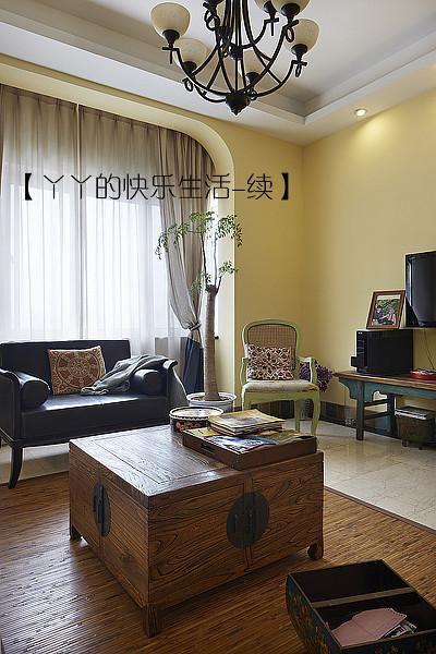 中式田园日式混搭复古客厅设计方案