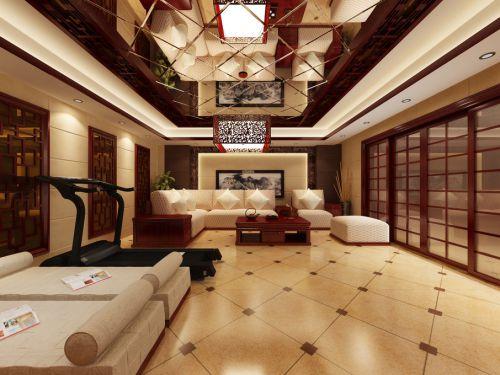 中式客厅沙发单人沙发图片