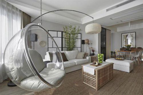 现代简约中式日式客厅设计方案