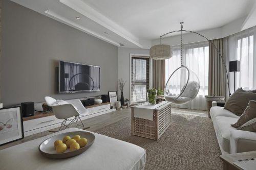 现代简约中式日式客厅装修案例