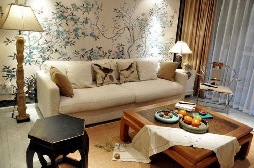 现代简约中式客厅设计图