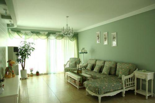 现代简约中式田园客厅设计案例展示