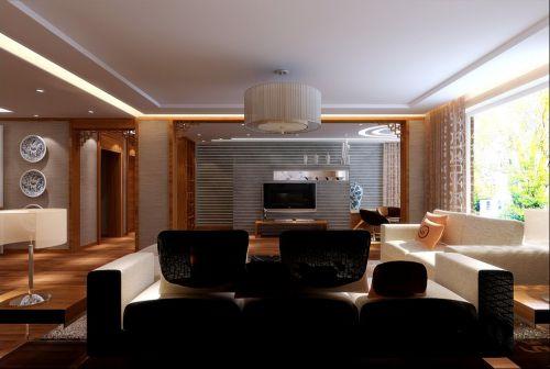 中式客厅电视背景墙装修案例