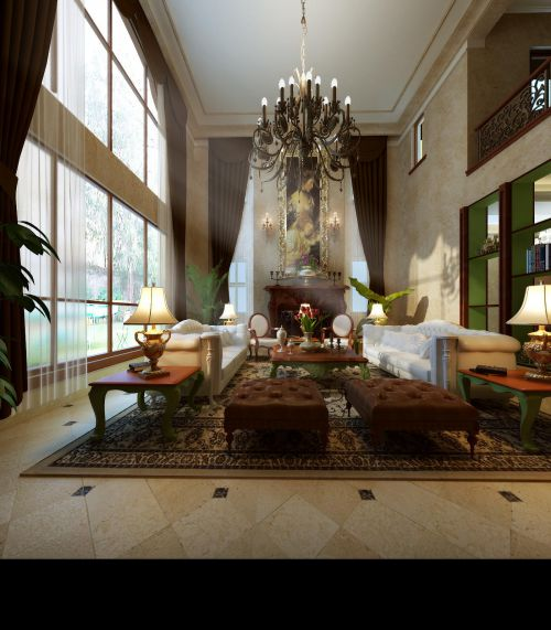欧式美式客厅设计方案
