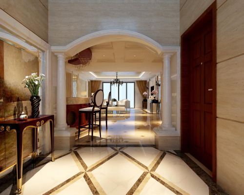 美式客厅走廊装修图