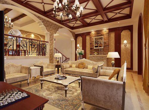欧式客厅--高清效果图-欧式 (171)