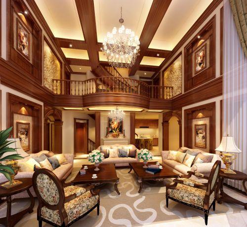 欧式客厅--高清效果图-欧式 (135)