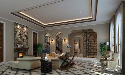 简欧美式新中式客厅案例展示